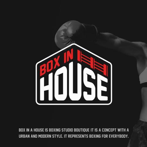 Diseña un logo para un gimnasio de entrenamiento de boxeo.