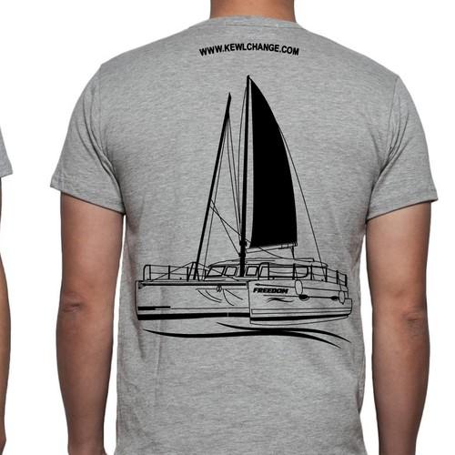 Ilustração do barco para Camisa