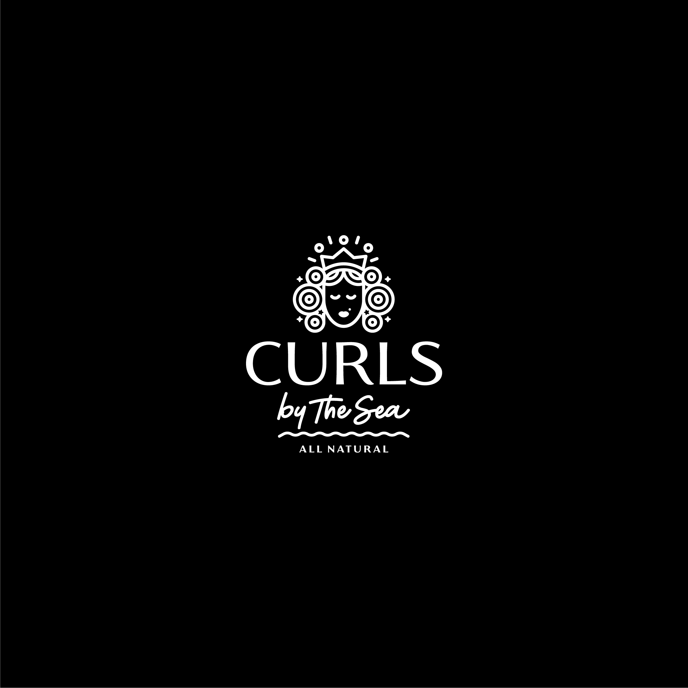 """Design the Brand Identity for an all Natural Haircare: """"Curls by the Sea"""""""