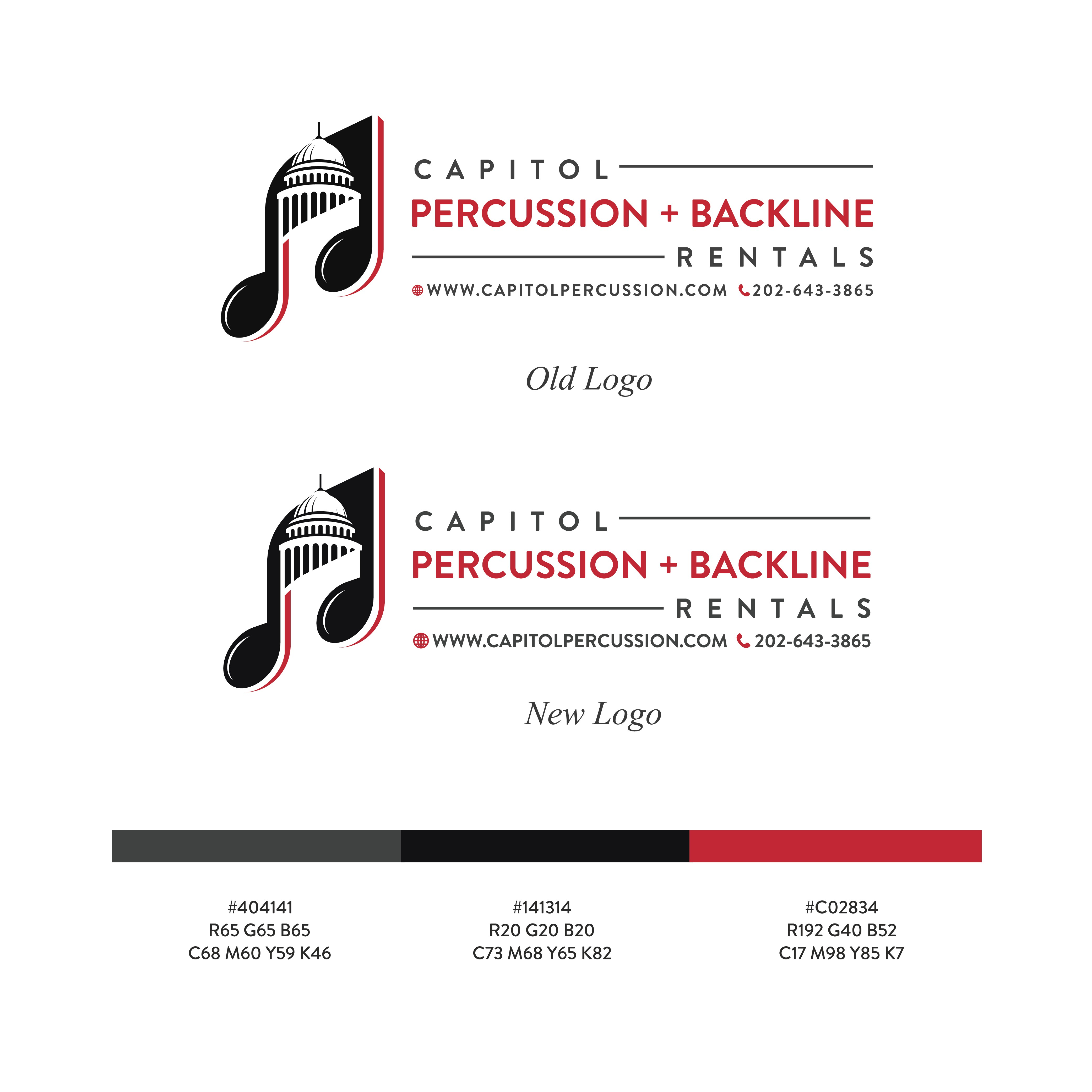 Create a logo that speaks for itself for Capitol Percussion
