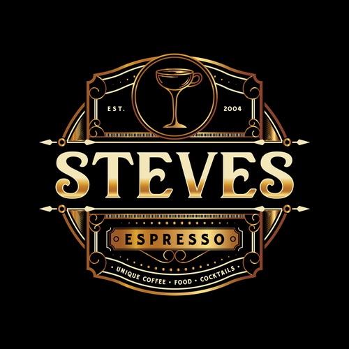 Unique Logo for a Cocktail bar and Coffee House
