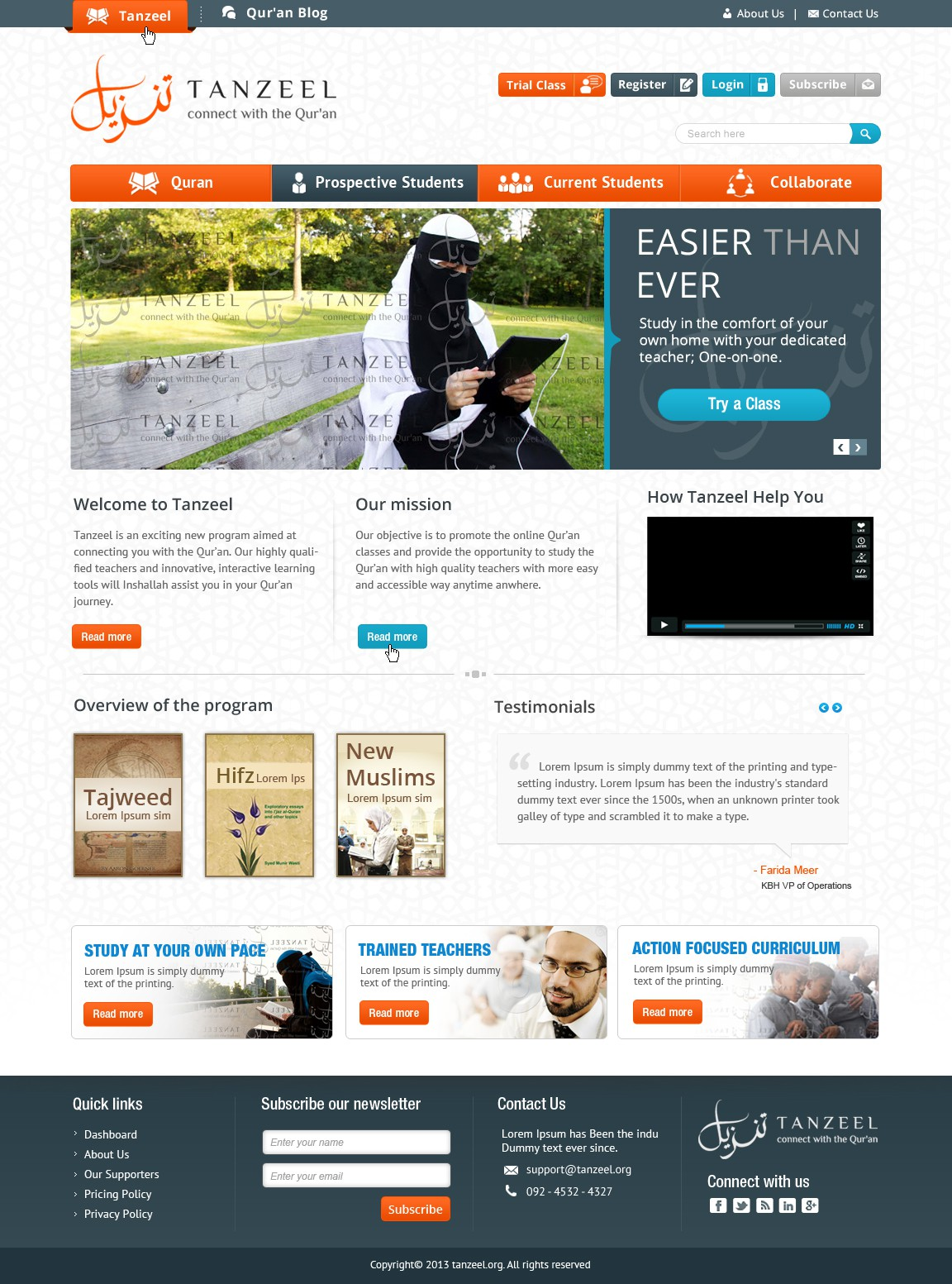 Online Qur'an Institute requires a state of the art website & blog design!!
