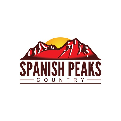 logo design for Spanish Peaks Country
