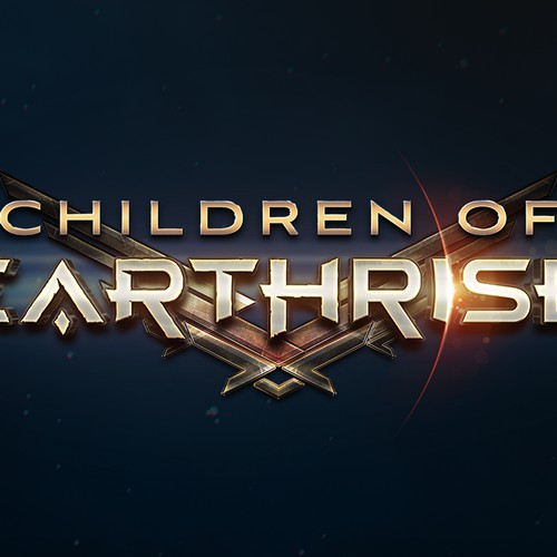 Children of Earthrise book series Logo design