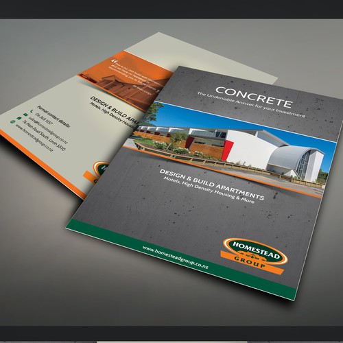 Design & Build Concrete Apartment Leaflet