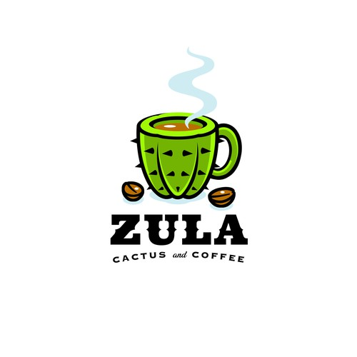 Zula Cactus and Coffee Logo