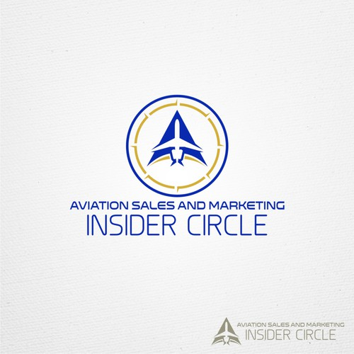 Clean and simple logo for Aviation Sales and Marketing Insider Circle