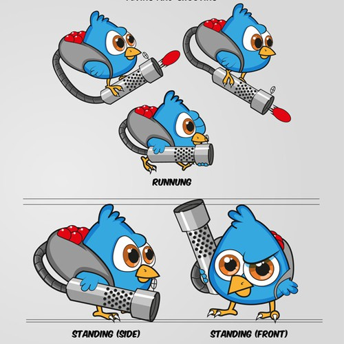 Shooting Bird character for Iphone/Android Game app