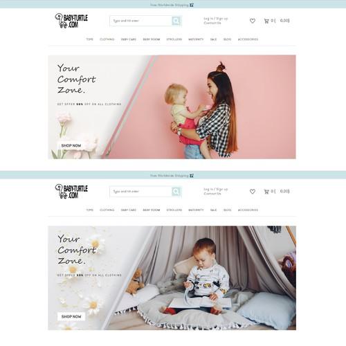 baby-turtle.com landing page design