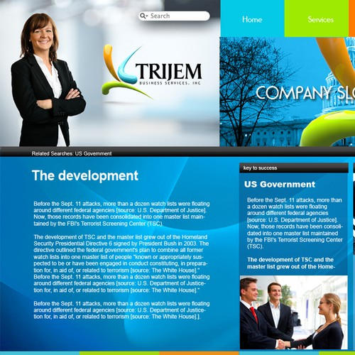 Trijem Webiste design layout