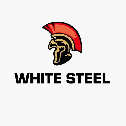 White Steel Logo