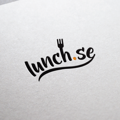 Logo for a new website in Sweden where all the best lunch places are listed