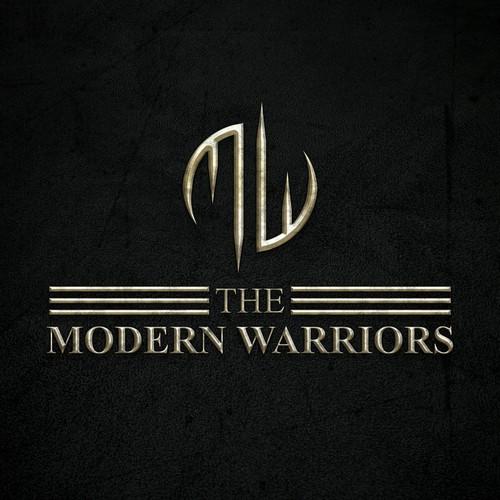 Create a vintage/rustic/modern design that is identifiable with manliness and warriors.