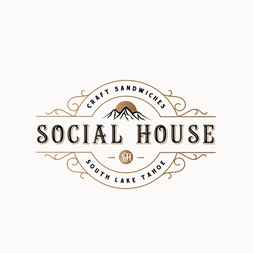 Vintage Logo For Social House