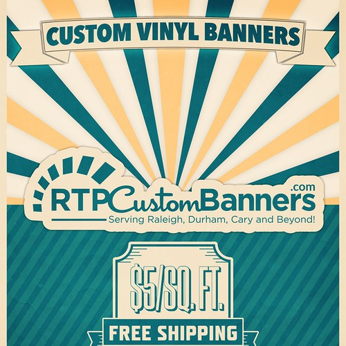 Need a Vintage/Retro Poster designed for an online banner business.