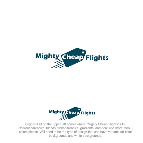 logo concept for cheap flights