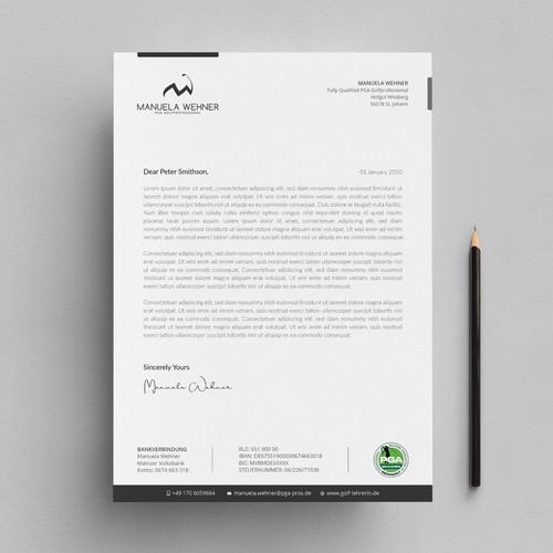 Letter/Invoice and Gift Voucher Design