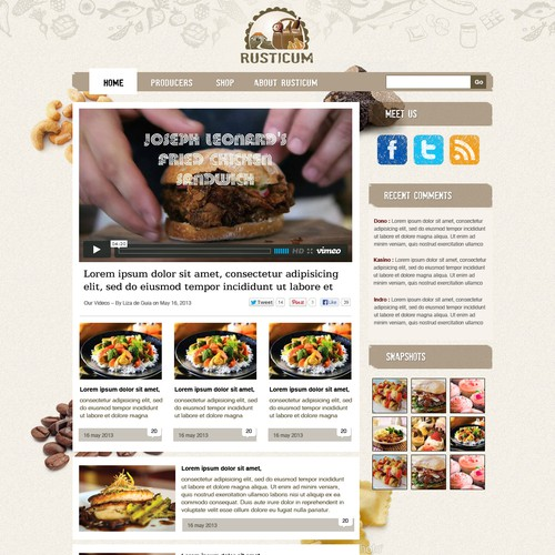 New landing page wanted for Rusticum