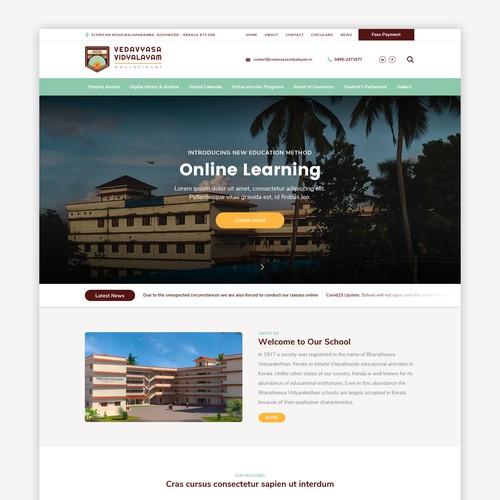 Website for Vedavyasa School