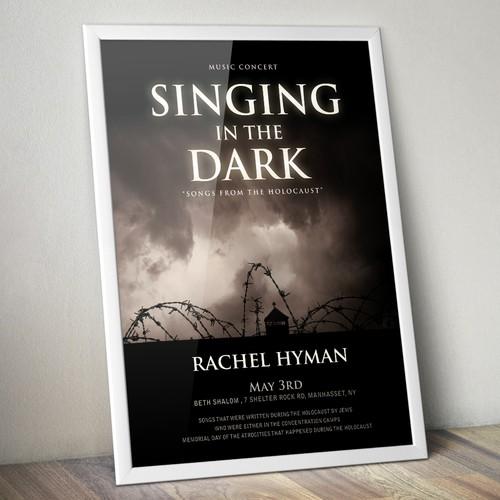 Singing in the dark- Design a concert poster