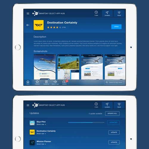 iPad app for In-flight Entertainment System