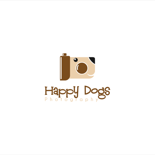 Create a unique illustration for Happy Dogs!
