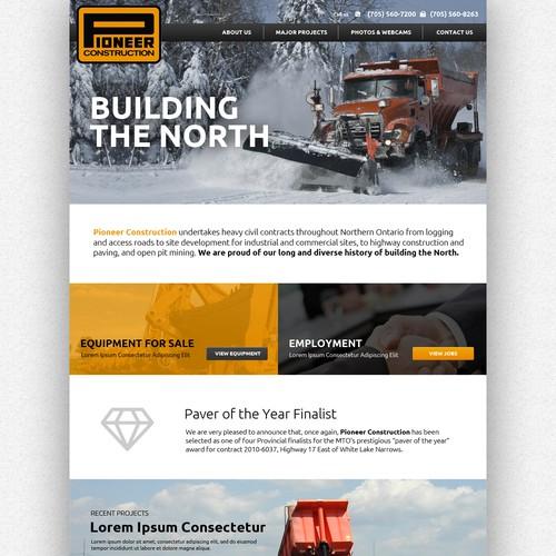 Pioneer construction website