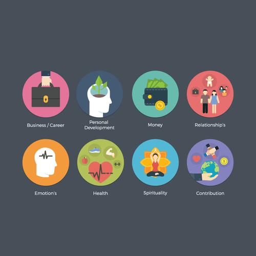 8 Flat Design Icon's