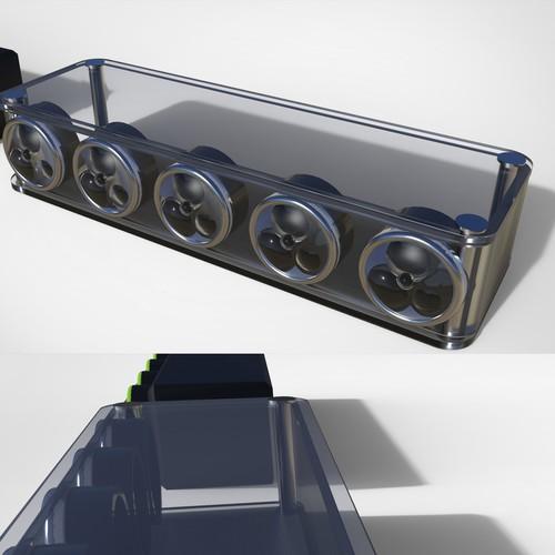 Hydroponic case concept