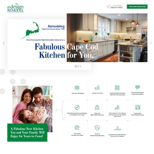 Lead Landing Page for Kitchen Remodeling Co