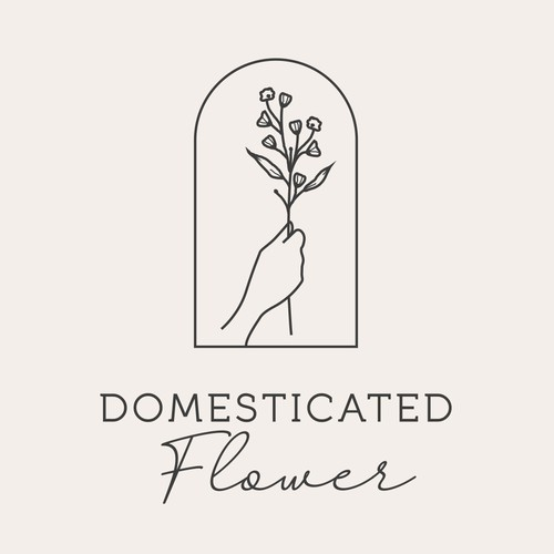 Floral inspired logo design for an organic CBD Infused Luxury Bath & Body Company