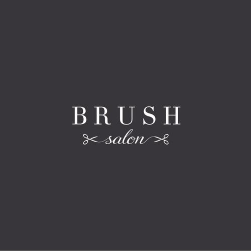 Design a modern and classy hair salon logo for Brush Salon