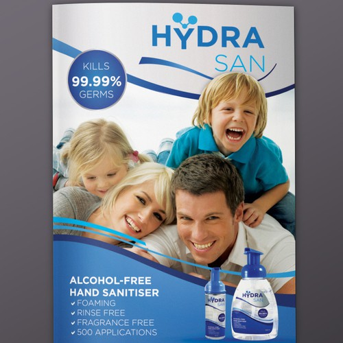 Print Ad wanted for 'HydraSan' a new Alcohol-Free Hand Sanitiser.