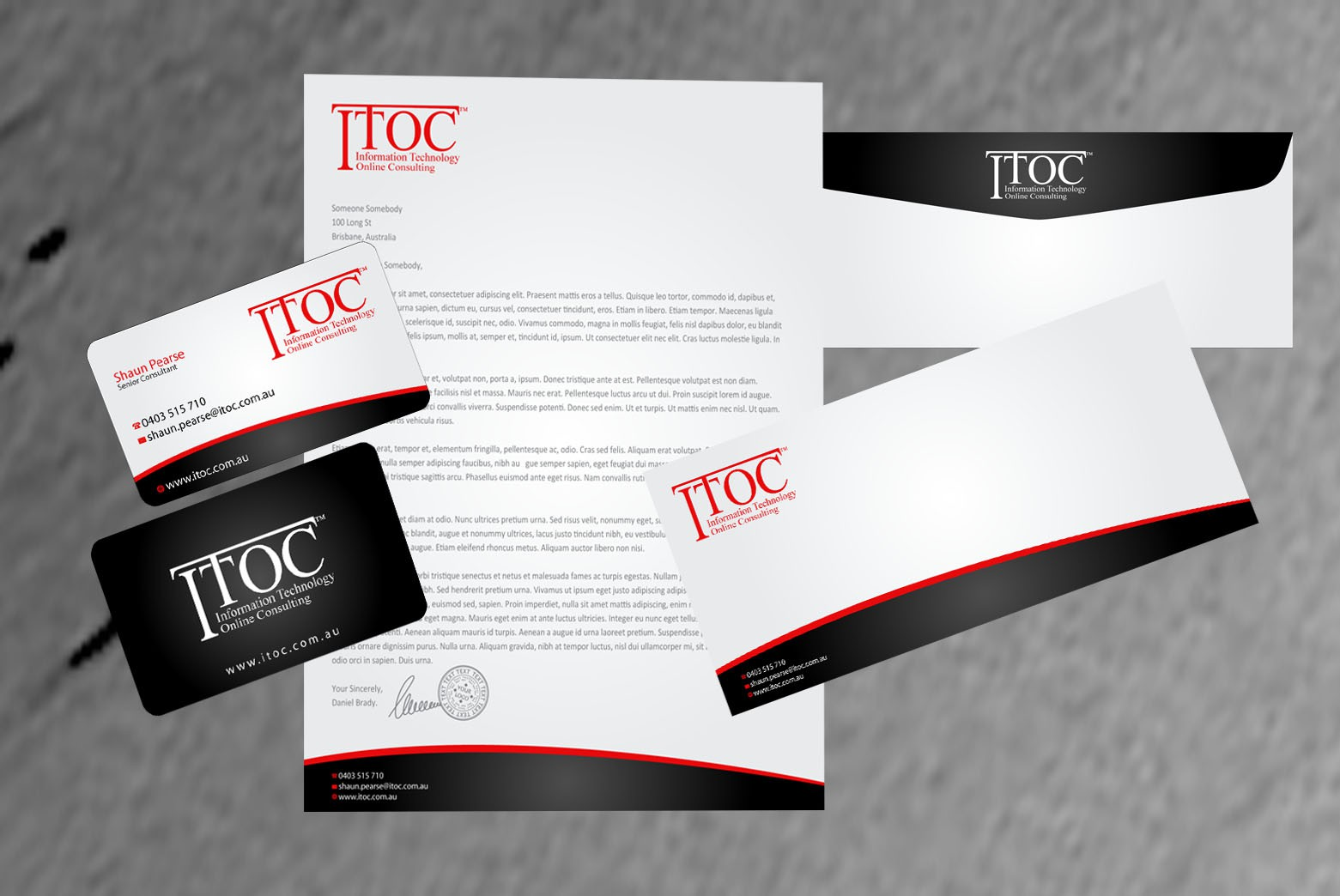 ITOC needs a new stationery