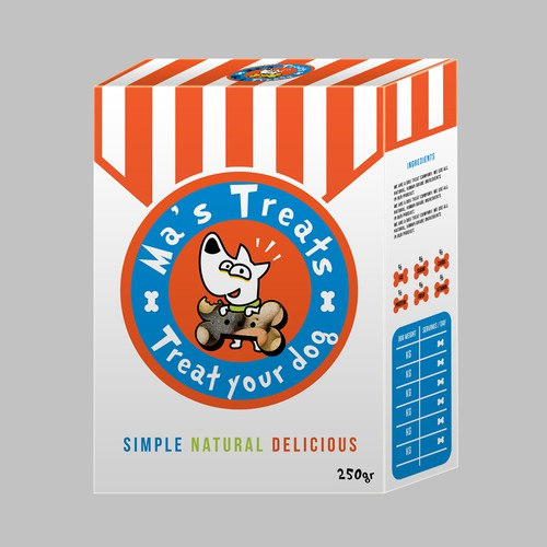 Packaging for treats for dogs