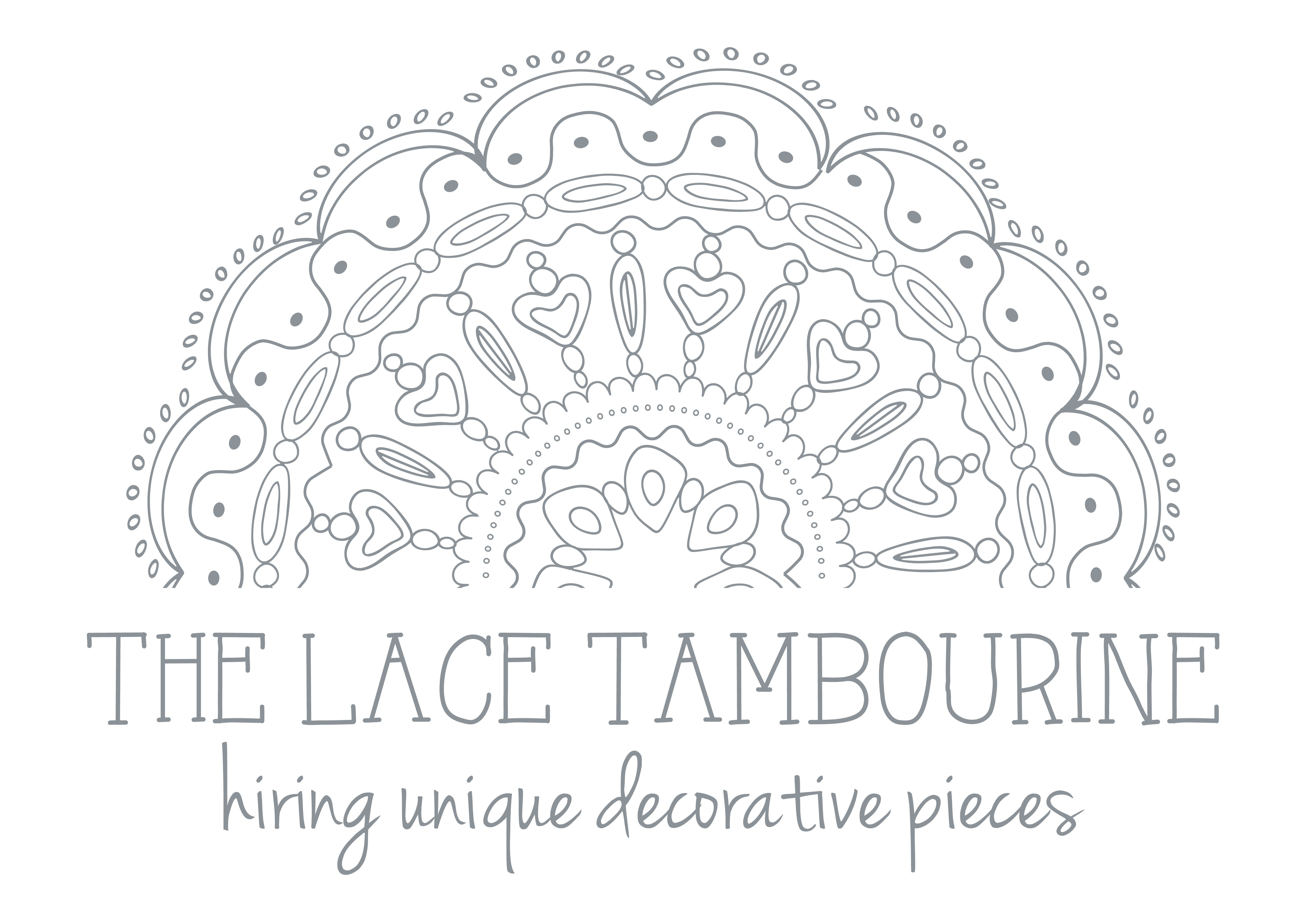 Create a beautiful, romantic and elegant illustration for The Lace Tambourine