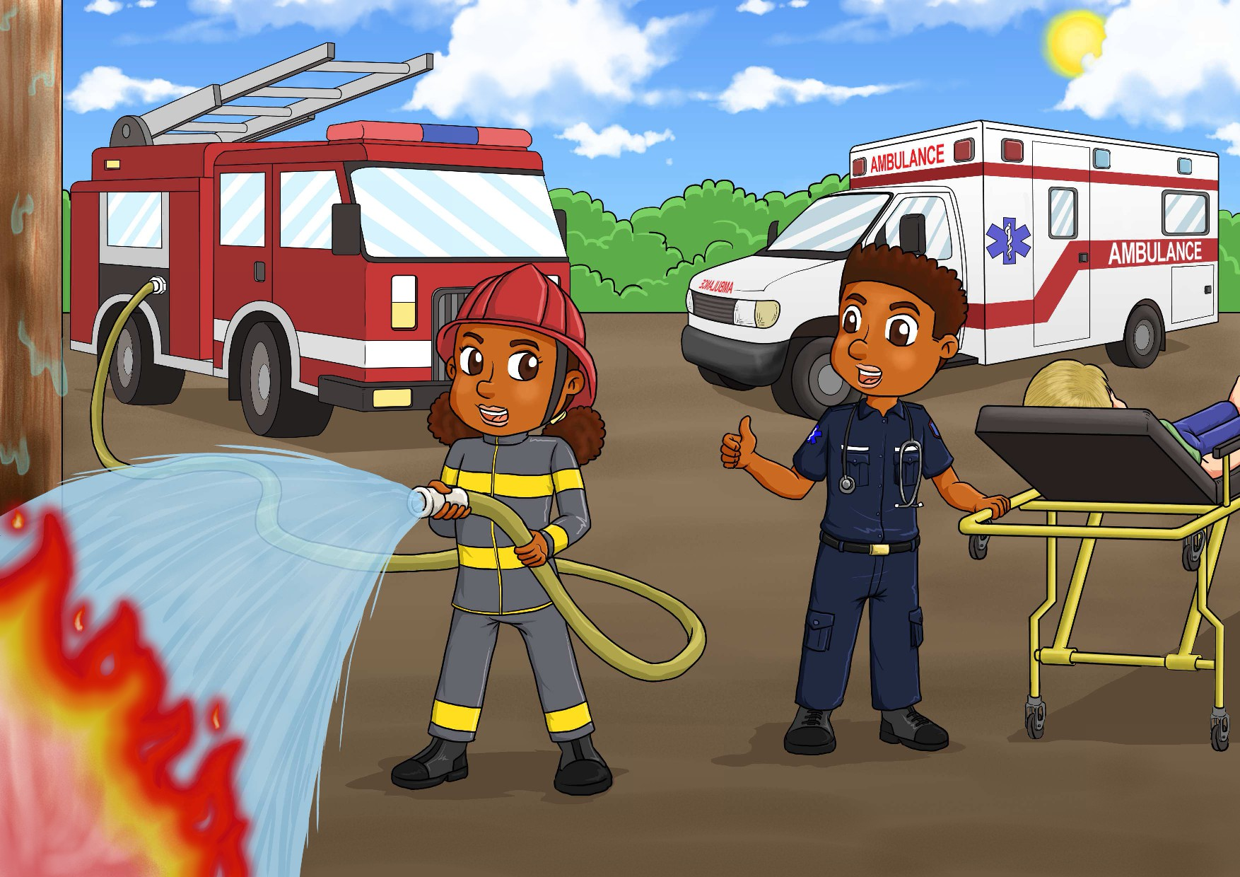 Design a First Responder Puzzle for Kids