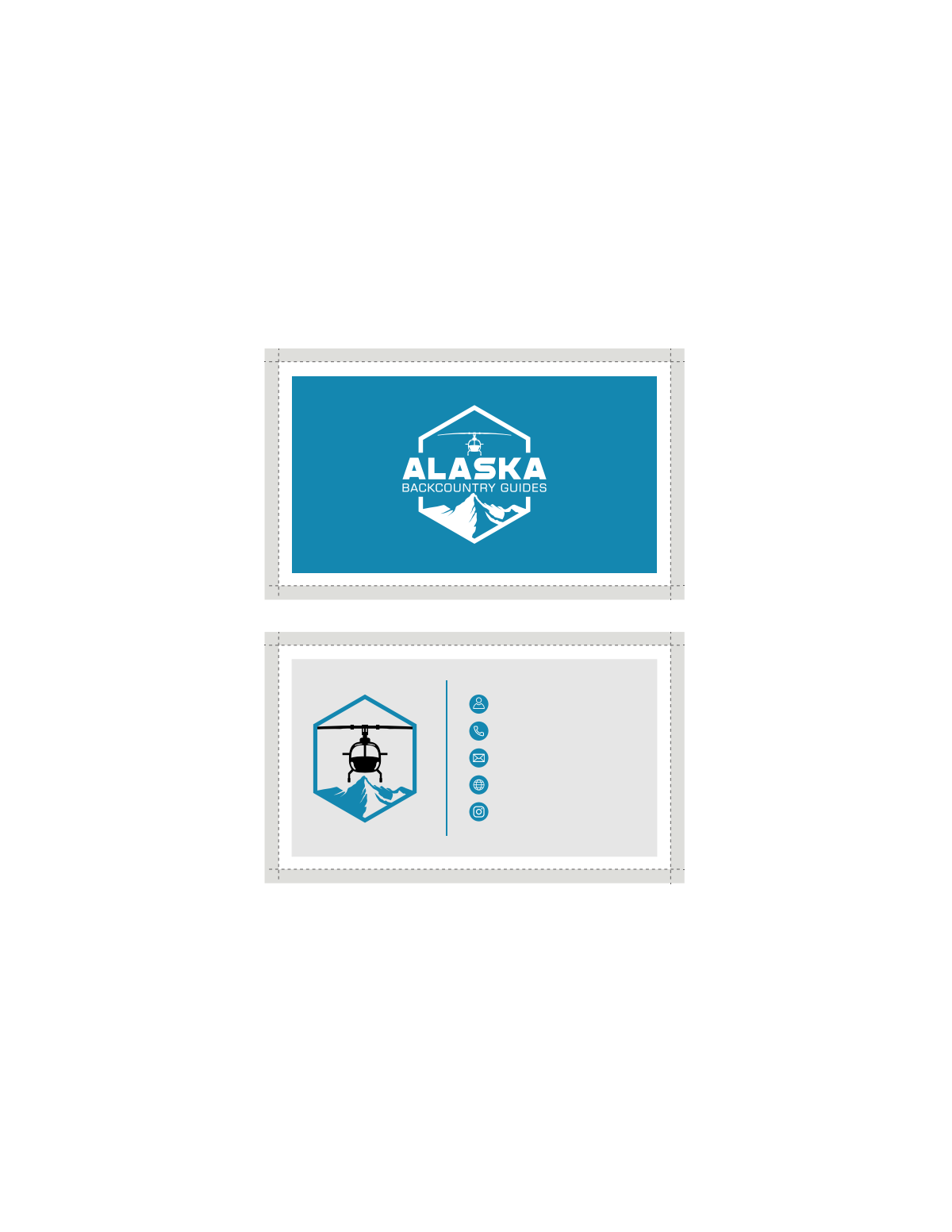Brand book and logo variations for Alaska Backcountry Guides