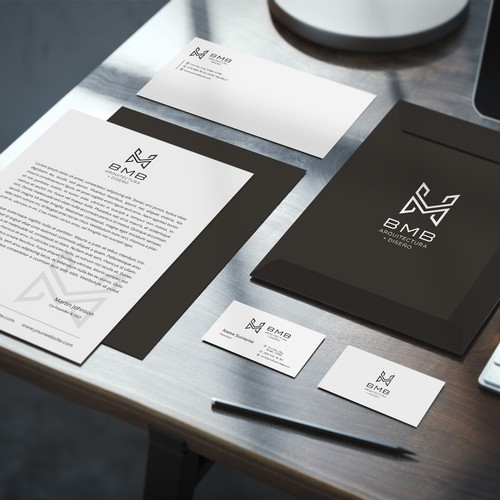abstract logo for architecture company BMB