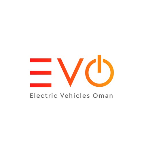 Logo concept for  EVO  Electric Vehicle Oman company