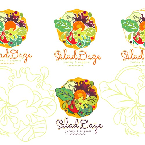 Create a fun, modern or retro inspired logo for Salad Daze
