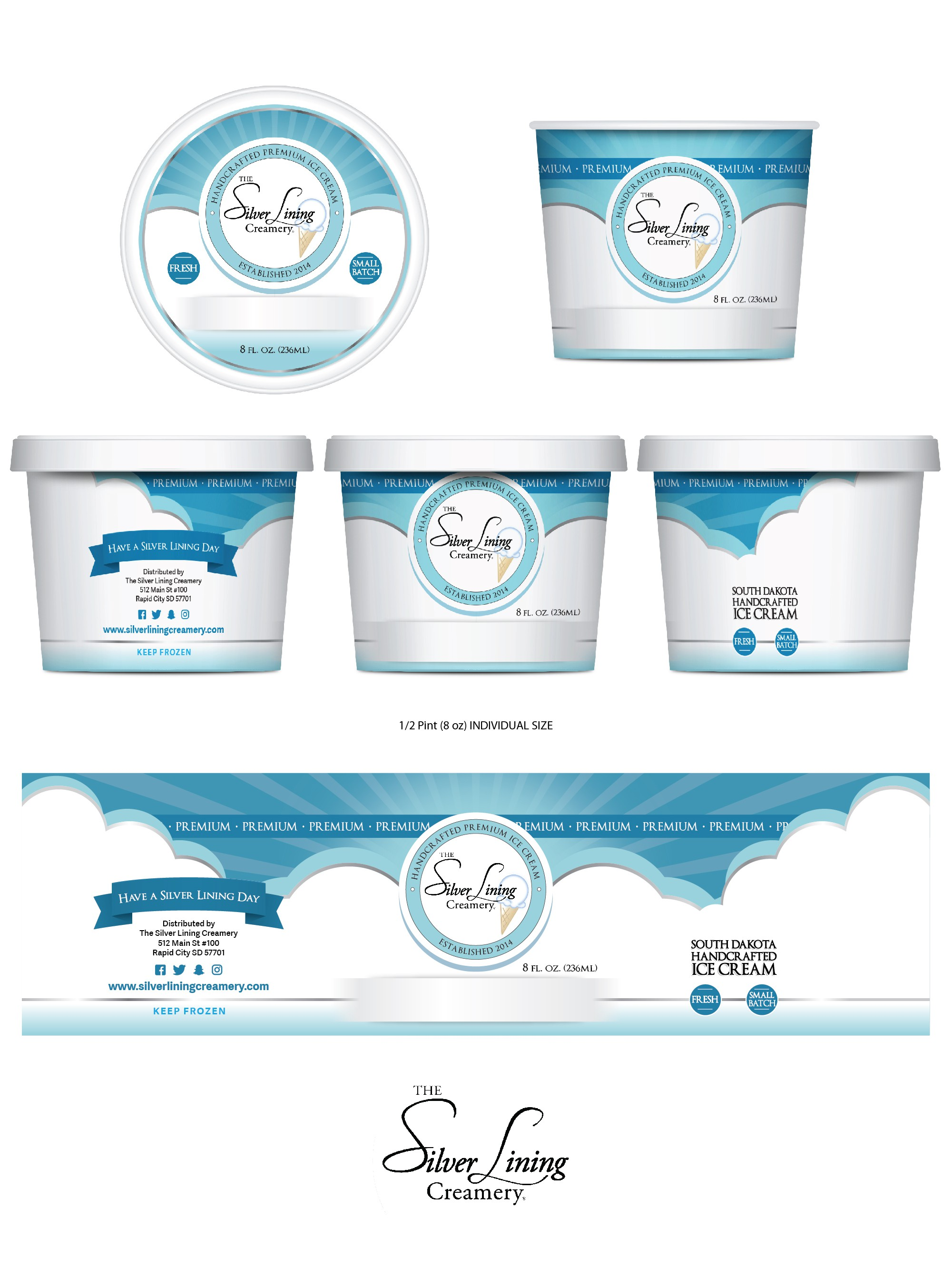 Modern packaging for the next big ice cream company