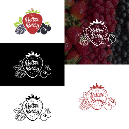 "Logo design for ""The Better Berry"" Juice Drinking Company."