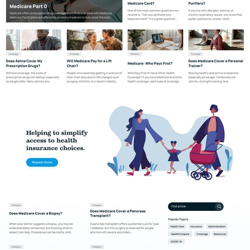 HealthCompare Website