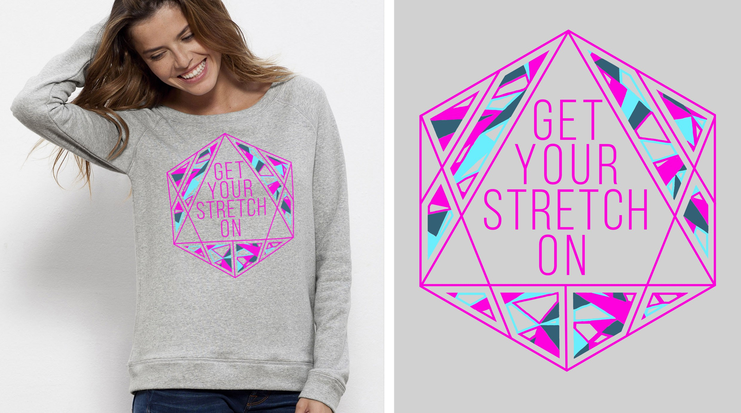 """New Design Version - """"Get Your Stretch On"""" (3 colours)"""