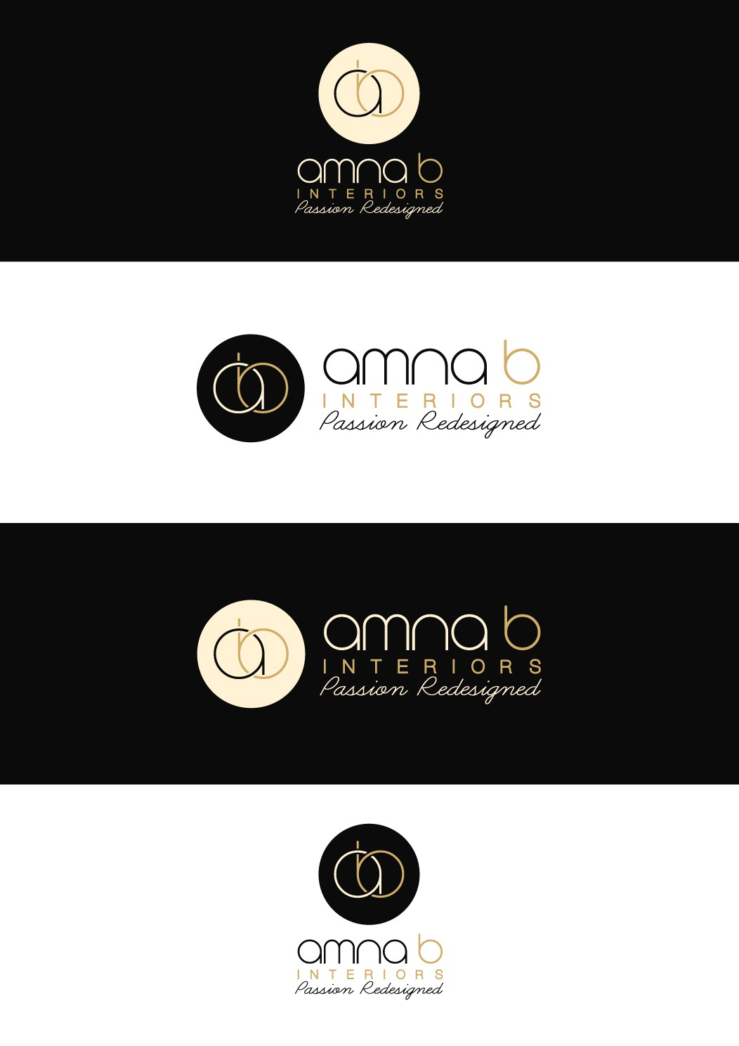 New logo wanted for Amna B Interiors