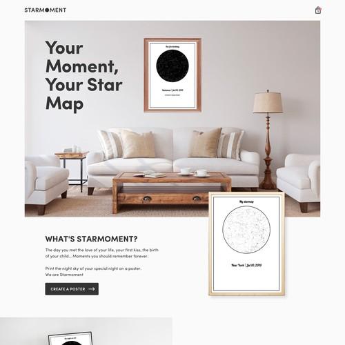 Starmoment Homepage Design
