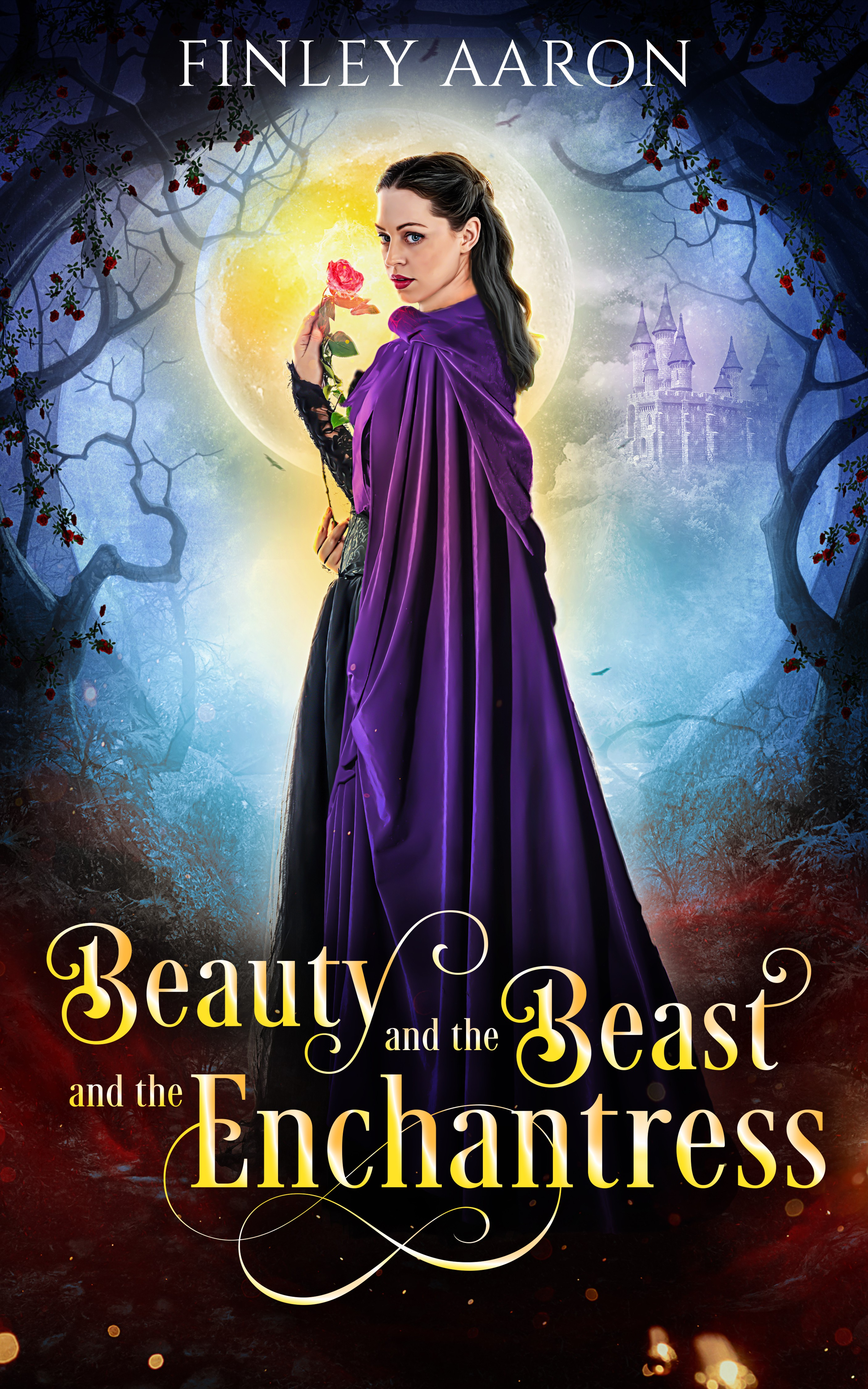 young adult fantasy book cover for Beauty and the Beast and the Enchantress