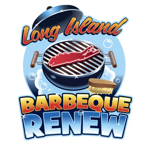 Design our BBQ grill cleaning company advertising image for Long Island Barbeque Renew