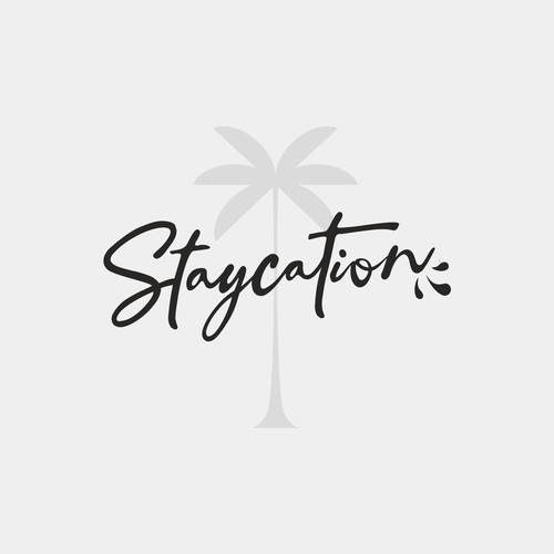 Concept logo for Staycation